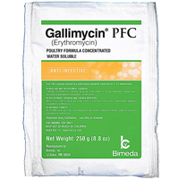 Gallimycin Pfc 250G (Erythromycin) / 30 Packets Per Pail Each By Bimeda Pet