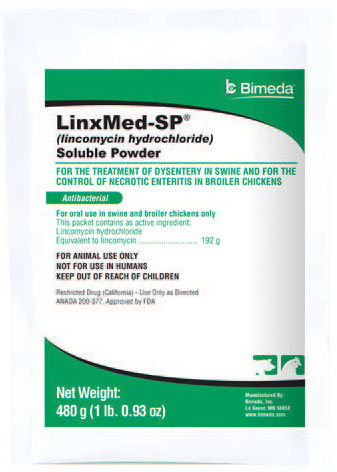 Linxmed-Sp Soluble Powder (Lincomycin) 480gm By Bimeda Pet