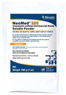 Neomed 325 Sol Powder 200gm 200gm By Bimeda Pet