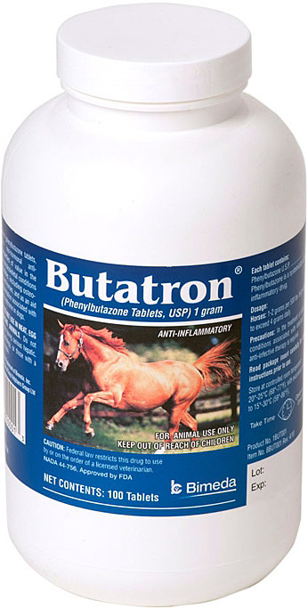 Bute Phen Tabs 1gm B100 By Bimeda Pet