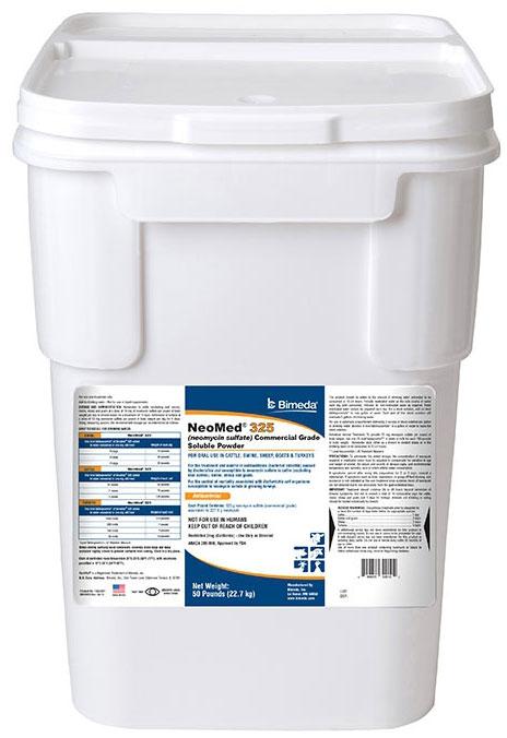 Neomed 325 [Neomycin] Powder 50Lb By Bimeda Pet