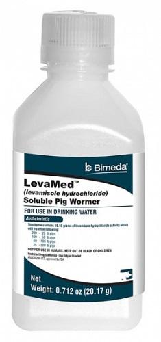 Levamed Soluble Pig Wormer (Levamisole Hydrochloride) - 0.712 oz Each By Bimeda