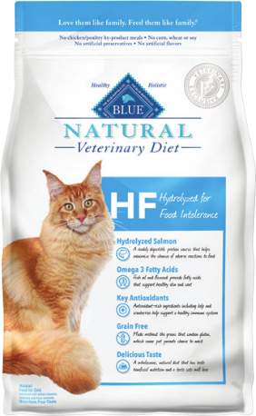 Natural Veterinary Diet Feline Adult - Hf (Hydrolyzed) W/ Salmon 7Lb By Blue Buf