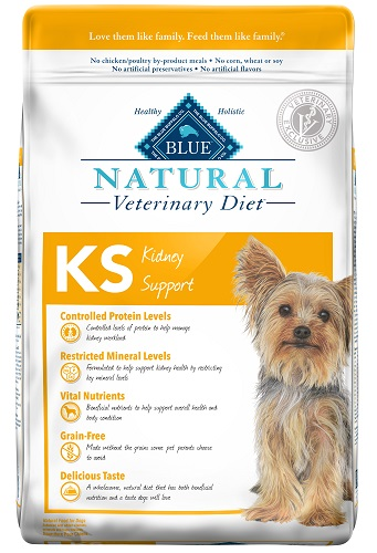 Natural Veterinary Diet Canine Adult - Ks (Kidney Support) W/ Chicken 6Lb By Blu