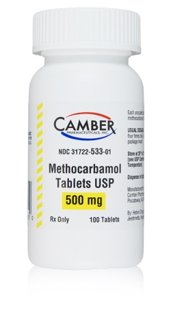 Methocarbamol Tabs 500mg B100 By Camber Pharmaceuticals