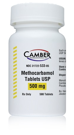 Methocarbamol Tabs 500mg B500 By Camber Pharmaceuticals