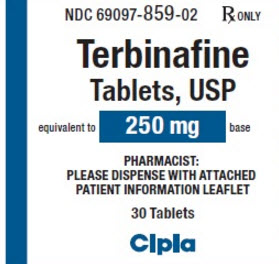 Terbinafine HydroChloride Tabs 250mg B30 By Camber Pharmaceuticals