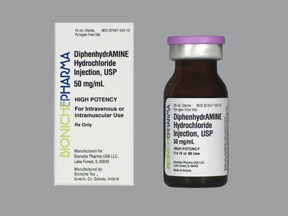 Diphenhydramine Hcl Inj 50Mg/ml 10ml By Caraco Pharmaceuticals