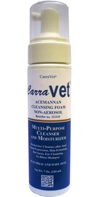 Acemannan Cleansing Foam Pump Spray 7 oz By Carravet