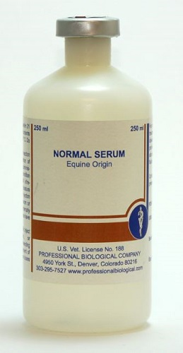 Normal Equine Serum 250cc By Colorado Serum