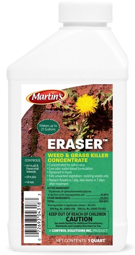 Eraser Weed And Grass Killer Concentrate QT. By Control Solutions