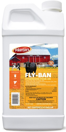 Fly-Ban Synergized Pour-On .5Gal By Control Solutions