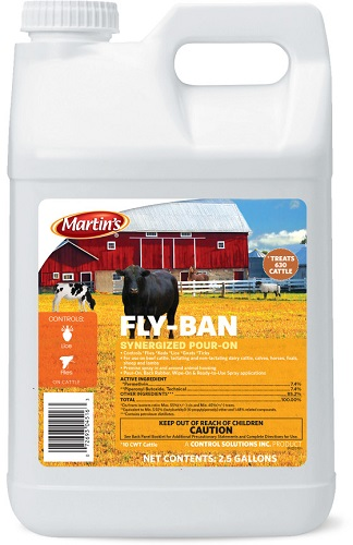 Fly-Ban Synergized Pour-On 2.5Ga By Control Solutions