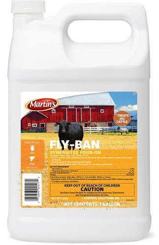 Fly-Ban Synergized Pour-On Gal By Control Solutions