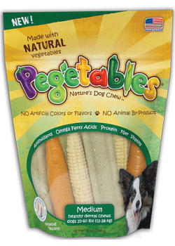 Pegetables All Natural Mixed Dog Treats - Medium Dog (25-60#) 8.4 oz Each By Cre