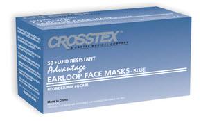 Mask Earloop Blue Advantage Bx50 By Crosstex International