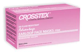 Mask Earloop Pink Advantage Bx50 By Crosstex International