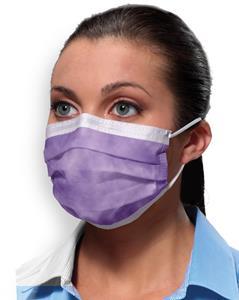Mask Procedural Earloop Lavender Bx50 By Crosstex International