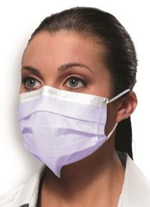 Mask Procedural Earloop W/ Securefit Pink Level 2 Bx50 By Crosstex International