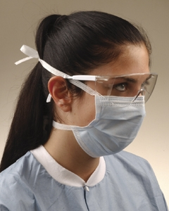 Mask Surgical Tie-On Blue Bx50 By Crosstex International