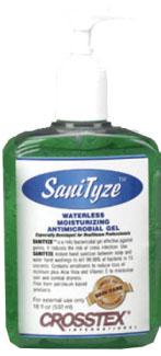Sanityze Waterless Moisturizing Antimicrobial Hand Pump Gel 18 oz By Crosstex In