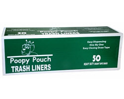 Poopy Pouch Trash Bags 13 Gallon (50 Bags Per Roll) Each By Crown Products LLC