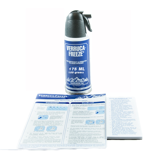 Verruca-Freeze Canister 65 Freezes / 175ml Orm-D Each By Cryosurgery .