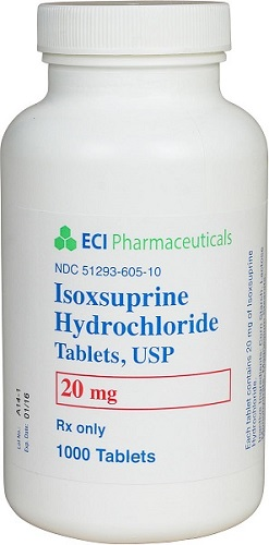 Isoxsuprine Tabs 20mg B1000 By Eci Pharmaceutical