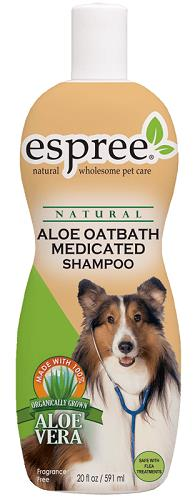 Aloe Oatbath Medicated Shampoo 20 oz By Espree Animal Products