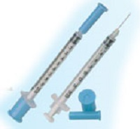Syringes 1cc Zero DEAd Space Tb W/ Permanently Attached Needle 25G X5/8 C500 By