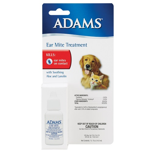 Adams Ear Mite Treatment .50 oz By Farnam