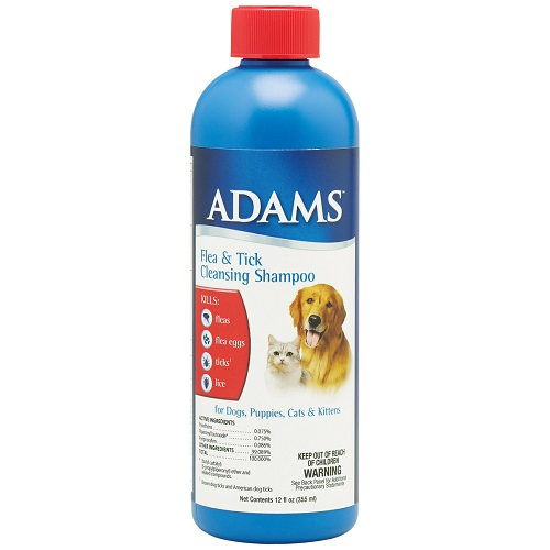 Adams Flea & Tick Cleansing Shampoo 12 oz Each By Farnam