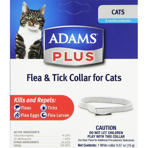 Adams Plus Flea & Tick Collar For Cats Each By Farnam