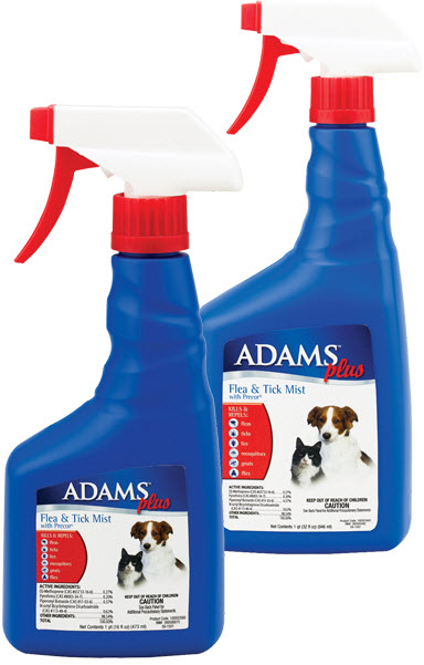 Adams Plus Flea & Tick Mist 16 oz By Farnam