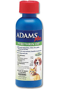 Adams Plus Pyrethrin Dip 4 oz By Farnam