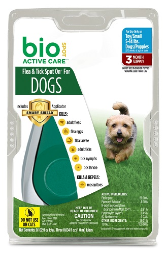 Bio Spot Active Care Flea & Tick Dog - Small (5-14Lbs) 3Pack Each By Farnam