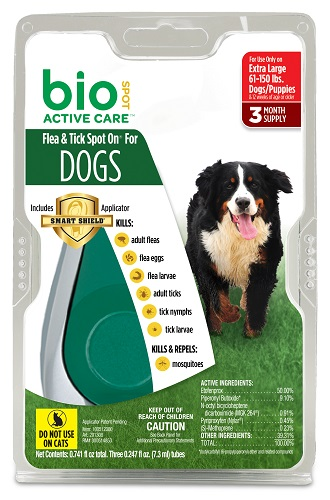 Bio Spot Active Care Flea & Tick Dog - XLarge (61-150Lbs) 3Pack Each By Farnam