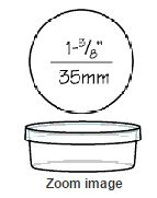 Dish Round With Lid 35mm X 10mm - Small P20 By First Priority