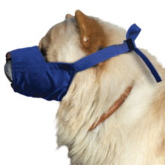 Muzzle Canine Quick Chow/Short Snouted Nylon (11 Snout) Large Each By Four Flag