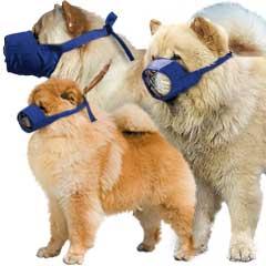 Muzzle Canine Quick Chow/Short Snouted Nylon 3-Piece Set (Small Medium Large)