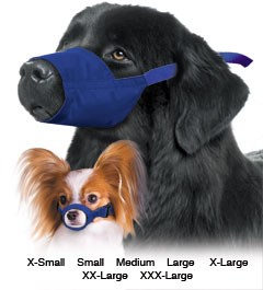 Muzzle Canine Quick Nylon 7-Piece Set (XS - XXxl) Set By Four Flags
