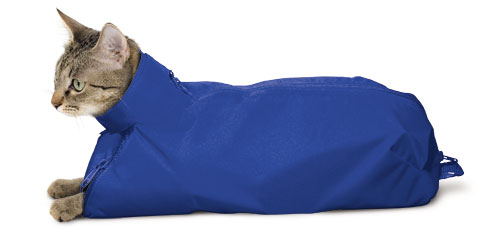 The Original Cat Sack Restraint Nylon Blue Large (10-15#) Each By Four Flags