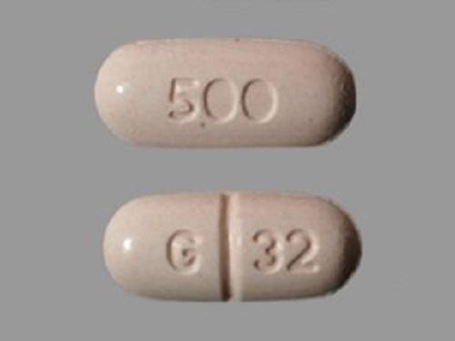 Naproxen Tabs 500mg - Scored Oblong Non-Returnable B500 By Glenmark Pharmaceut