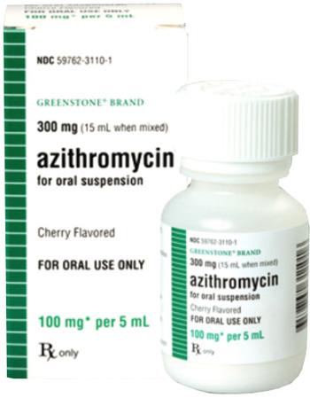 Azithromycin Suspension Cherry Flavor 100Mg/5ml 15cc By Greenstone LLC