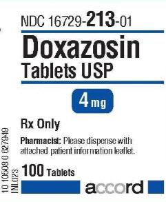 Doxazosin Tabs 4mg B100 By Greenstone LLC
