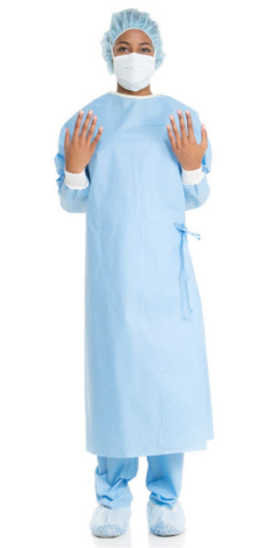 Surgical Gown Ultra Non-Reinforced Blue XLarge Each By Halyard Health Item No.:Vet-OTC-MW 033545<Br><Br><Br>Manufacturer:Halyard Health<Br>MW SKU:033545<Br>Manf Code:95121<Br>Rx:No<Br>Human Label:No