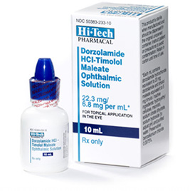 Dorzolamide Hcl With Timolol Ophthalmic Solution 10ml By Hitech Pharmacal Co