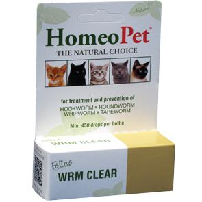 Homeopet Feline Worm Clear 15ml By Homeo Pet