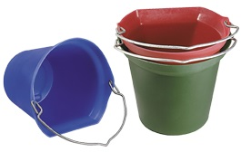 Bucket Fb 20QT. Red Each By Horsemens Pride