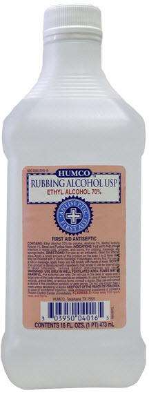 Alcohol Ethyl Rubbing 70% 473ml Orm-D Pts By Humco